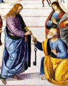 Jesus giving the keys to Peter