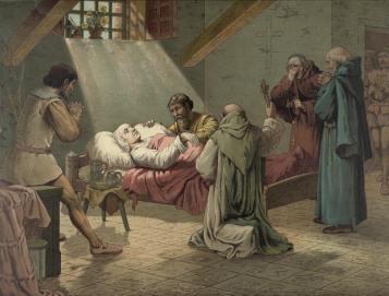 Columbus on deathbed